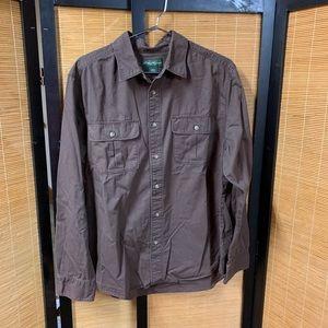 Eddie Bauer XL brown shirt